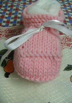Crochê Tricô: Especial Tricô: Sapatinho de Trico Passo a Passo