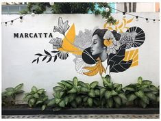 Wall Painting Decor, Mural Wall Art, Graffiti Wall, Stencil Painting, Mural Cafe, Cafe Wall, Murals Street Art, Street Wall Art, Wall Drawing