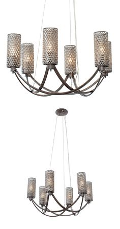 Leaving nothing to chance, the designer of this Sigrid Chandelier spent a lot of time shaping an artful fixture that dominates and serves as a focal point for a mid-century themed space. Hand-forged re...  Find the Sigrid Chandelier, as seen in the White Washed Industrial Collection at http://dotandbo.com/collections/white-washed-industrial?utm_source=pinterest&utm_medium=organic&db_sku=121220
