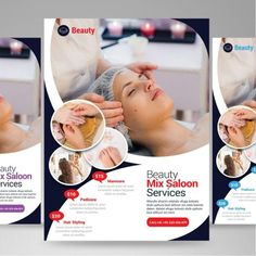 Beauty saloon flyer template PNG and PSD Spa Design, Salon Design, Flyer Design, Beauty Spa, Beauty Care, Leaflet Design, Beauty Clinic, Skin Clinic, Party Poster