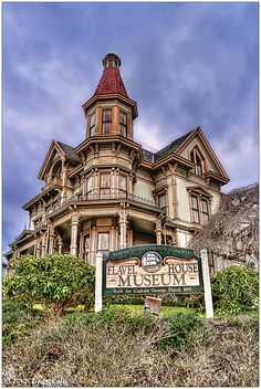 As one of the best preserved examples of Queen Anne architecture in the Northwest, the Flavel House survives today as a landmark of local and national significance. The house was built in 1884-85, for Captain George Flavel and his family. The Captain, who made his fortune through his occupation as a river bar pilot and through real estate investments, built the Flavel House as his retirement home at the age of 62.