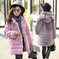 2018 Winter Jackets For Girls Hooded Girls Down Coat Warm Thick Kids Outerwear Autumn Teenage Girls Clothing Pull Fille Costume Baby Outfits, Teenage Girl Outfits, Kids Outfits, Winter Fur Coats, Girls Winter Coats, Kids Coats, Winter Clothes, Girls Faux Fur Coat, Faux Fur Hooded Coat