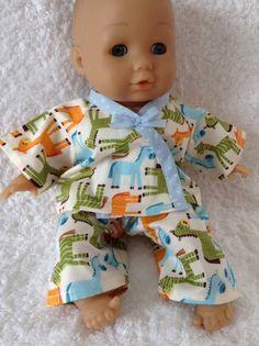Dolls Clothes Pony Pyjamas to fit 30cm (12inch) baby dolls ELC Cupcake £5.25