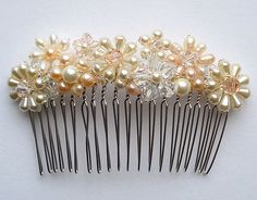 Bridesmaid Hair Comb by whiterosevintageuk on Etsy, $38.00