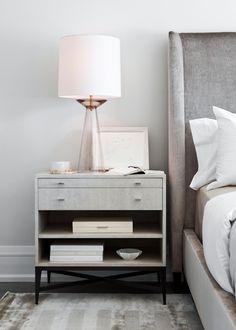 Edgewater Estate | Elizabeth Metcalfe Gray Bedroom, Home Decor Bedroom, Bedroom Furniture, Trendy Bedroom, Bedroom Ideas, Kitchen Furniture, Bedroom Apartment, Apartment Ideas, Velvet Bedroom