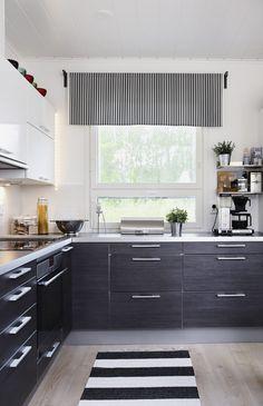 Marimekko, Kitchen Ideas, Tiles, Kitchens, Kitchen Cabinets, Interiors, Modern, Design, Home Decor