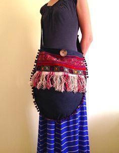 ethnic boho bag hippie bag crossbody bag bohemian by lalalubags