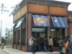 This was the scene at the opening of Garrett Popcorn Shops Chatham store. Description from concernedcitizensofchatham.blogspot.com. I searched for this on bing.com/images
