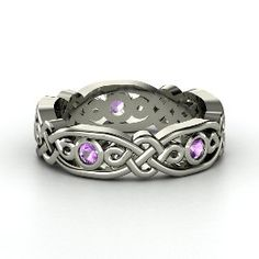 Gorg celtic wedding band. Esp with the amethyst, the stone of Scotland!