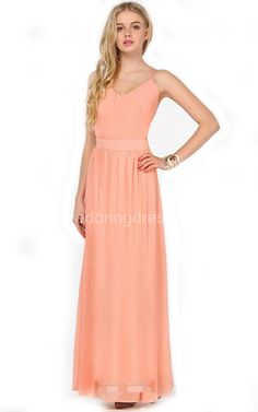 US$78.60-Beautiful Sheath Chiffon Long Bridesmaid Dress With Spaghetti Straps. http://www.newadoringdress.com/floor-length-sheath-chiffon-dress-with-sexy-back-p310889.html. Shop for long dresses, designer dresses, casual dresses, occasion dresses, backless dresses, elegant dresses, black tie dresses, We have great 2016 fall bridesmaid dress for sale. Avialble in Gold, Yellow, Pink, Lavender Burgundy, Peach…#NewAdoringDress.com