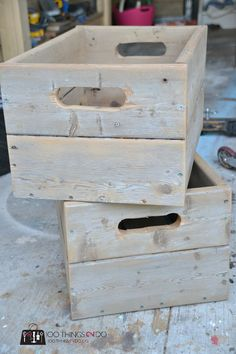 Cedar crates - 2