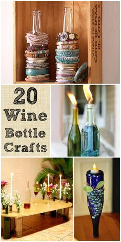 20 Wine Bottle Crafts To Finally Put Them To Good Use #diy #crafts