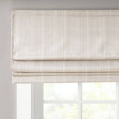Shop for Madison Park Colm Basketweave Room Darkening Cordless Roman Shade. Get free delivery On EVERYTHING* Overstock - Your Online Home Decor Outlet Store! Window Treatments Living Room, Living Room Windows, Bedroom Window Coverings, Porch Windows, Living Room Blinds, Bay Windows, Curtains Living, Farmhouse Roman Shades, Roman Shades Kitchen