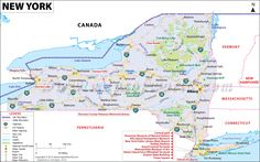 Map of the 3rd most populous state of the US, #NewYork
