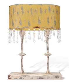 Yellow Topiary Lamp