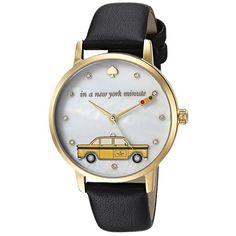 Kate Spade New York Taxi Metro - KSW1346 (Black) Watches ($195) ❤ liked on Polyvore featuring jewelry, watches, kate spade jewelry, analog watches, quartz movement watches, analog wrist watch and kate spade