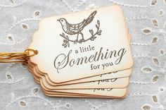 vintage bird gift tags