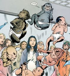 Snow and Bigby's children, from Fables :)