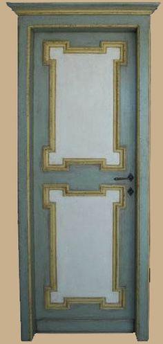 Reproductions of antique italian painted doors - Porte del Passato Antique Furniture, Painted Furniture, Italian Doors, Painted Doors, Miniature Dolls, Craftsman, Shabby Chic, Mirror, Antiques