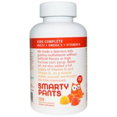 SmartyPants, Kids Complete Multi + Omega 3 + Vitamin D, 120 Delicious Gummies