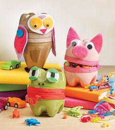 How To Make Zipper Animal Containers