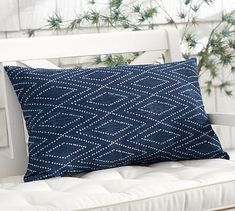 "(3A) Lycian Ikat Indoor/Outdoor Pillow #potterybarn. $39.50. 16"" wide x 26"" long. would go in front of the jute braid pillow."