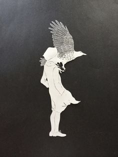 Wonderful Hand cut paper art by Maude White is really amazing. She is really authentic toward her work as she carves paper and turn them into any form. Cut Paper Illustration, Paper Animals, Paper Birds, Artwork Design, Paper Design, Art Images, Bing Images, Paper Cutting, Paper Art