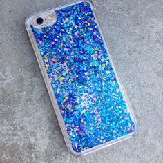 Peacock Liquid Holographic Glitter iPhone Case by TheBlingBling.net