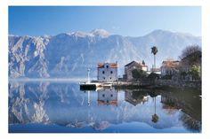 The prodigious Boka Bay and surrounding high mountains, Montenegro