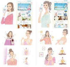 イラストレーター miya /女性向けイラスト,ファッションイラスト,おしゃれ