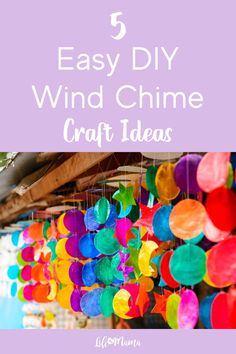 5 Awesome Kid Made Wind Chimes Diy Crafts For Kids Easy, Cool Gifts For Kids, Diy Projects For Kids, Easy Diy Crafts, Kids Crafts, Wind Chimes Craft, Summer Activities For Kids, Do It Yourself Home, Resin Crafts