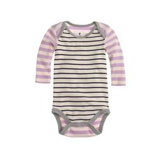 This is an essential easy layer, specially designed with a wide envelope neckline and a snap closure for superquick changes. It's made from soft cotton with cool elbow patches and contrasting stripes, so it's as comfy as it is cute.  <ul><li>Please note that sizes are measured in months.</li><li>Cotton.</li><li>Machine wash.</li><li>Import.</li><li>Select stores.</li></ul>