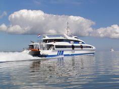 Ms Tiger II op de Waddenzee
