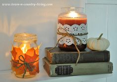 Cozy Fall Decorating with Candles - Live Creatively Inspired