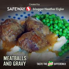 Onion Meatballs and Gravy Over Mashed Potatoes