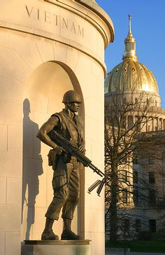 Vietnam Memorial & WV  State Capitol - my daddy served... POW/MIA -Until they all come home=(