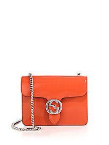 Gucci - Gucci Interlocking Polished Leather Shoulder Bag 2168f58f7ec