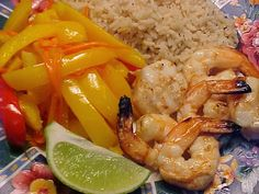 la table en fête : Crevettes et pétoncles à l'indonésienne sur bbq