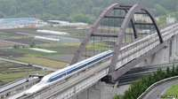 Japanese magnetic levitation train travels at 374 mph, breaking its own world speed record.
