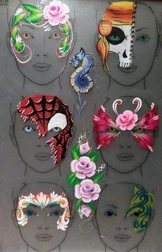 Face Paint Set, Mask Face Paint, Face Painting Tips, Belly Painting, Face Painting Designs, Painting For Kids, Face Paintings, Painting Tutorials, Body Paint