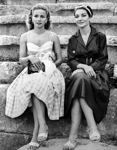 TIna Onassis e Maria Callas.