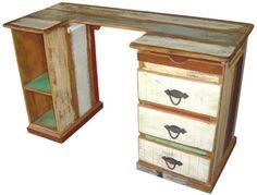 escrivaninha em madeira de demolição