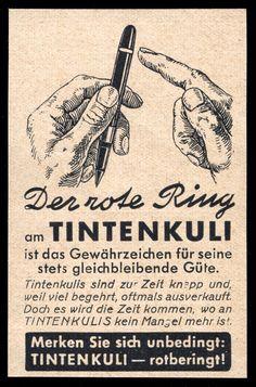 Alte Reklame Werbung 1941 Der rote Ring am Tintenkuli Rotring • EUR 6,99…