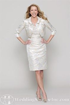 Watters Mother of the Bride Dresses 2762. Stylish mother of the bride dresses from the Wedding Shoppe, http://www.weddingshoppeinc.com. #motherofthebridedresses #silver