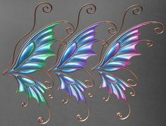 Second Life Marketplace - Deviance - Titania Mesh Fairy Wings . Fairy Wings Drawing, Diy Fairy Wings, Butterfly Drawing, Butterfly Fairy, Butterfly Wings, Fairy Crafts, Dyi Crafts, Diy Arts And Crafts, Fairy Wing Tattoos