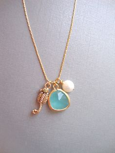 Under The Sea 14K GoldFilled Chain Necklace by DesignsbyJocelyn, $38.00