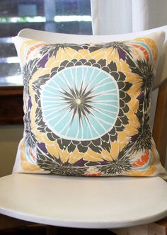 Doily Removable Throw Pillow Cover by Leah Duncan via Etsy Sofa Pillows, Throw Pillows, Blue Couches, Printed Cushions, Textiles, Backrest Pillow, Throw Pillow Covers, House Colors, Doilies