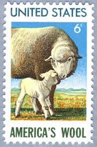 6 cents America's Wool USA  1971