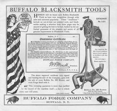 Buffalo Blacksmith Tools : Catalogue No. LG5 : Buffalo Forge Company : Free Download, Borrow, and Streaming : Internet Archive Blacksmith Tools, Vintage Tools, Old West, Blacksmithing, The Borrowers, Buffalo, Catalog, Archive, Internet
