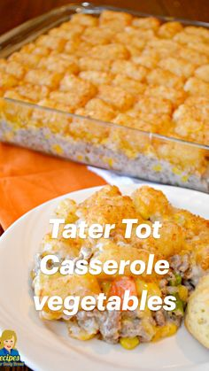 Crockpot Recipes, Vegan Recipes, Cooking Recipes, Dinner Dishes, Food Dishes, Tater Tot Casserole, Good Food, Yummy Food, Easy Casserole Recipes